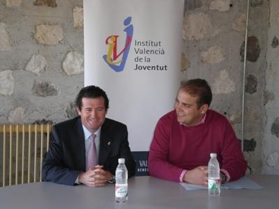 Foto Alcalde Teulada José Ciscar, y Adrián Ballester