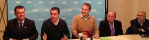 De izquierda a derecha, Antonio Bernabé, Javier Pérez, Adrián Ballester, Antonio Ángel Hurtado y Miguel Ángel Ballesta